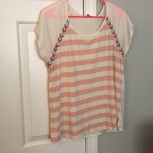 Pink and white stripped shirt